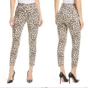 NWT FRAME Ali Leopard High Waist Crop Skinny Jeans